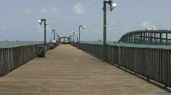 Fish Pier and bridge Port Isabel HD Stock Footage
