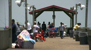 Fishing pier Zoom Out HD Stock Footage