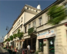 Old town buildings - stock footage