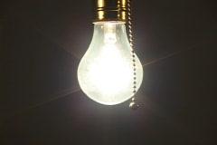 Light bulb turned off Stock Footage