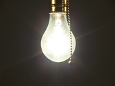 Light bulb turned off Stock Footage