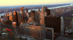 New York skyline at sunset Stock Footage