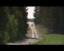race car downhill - stock footage