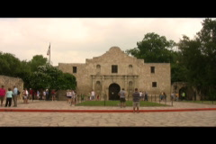 Alamo time lapse Stock Footage