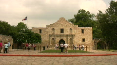 Alamo tourists Daytime HD Stock Footage