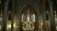 Stock Video Footage of Catholic Cathedral Altar SAT TX HD