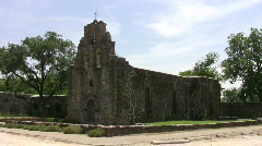 Mission Espada from distant HD Stock Footage