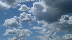 Midday clouds time-lapse 2 - stock footage
