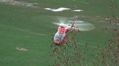 Air ambulance helicopter Stock Footage