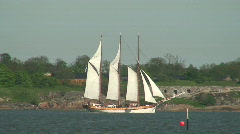 Large sailing ship two Stock Footage