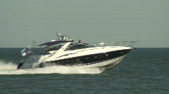 Sea motorboat four - stock footage
