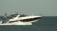 Sea motorboat four Stock Footage