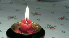 Metal candle holder three Stock Footage