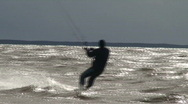 Stock Video Footage of Kite surfing nine in the Baltic sea