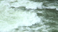 In the rapids of whitewater Stock Footage
