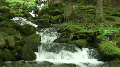 Panorama of a mountain creek - stock footage