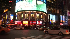 NY NY TIMES SQUARE Stock Footage