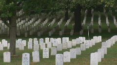Arlington Cemetery - medium shot Stock Footage