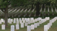 Stock Video Footage of Arlington Cemetery - medium shot