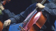 Stock Video Footage of Musician Playing Cello With Slow Strokes