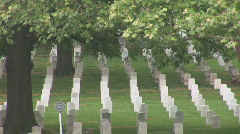 Arlington Cemetery - pan left to right Stock Footage