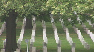 Stock Video Footage of Arlington Cemetery - pan left to right