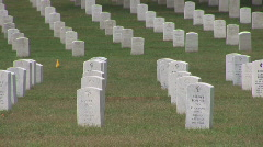 Arlington Cemetery - tilt up Stock Footage