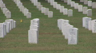 Stock Video Footage of Arlington Cemetery - tilt up