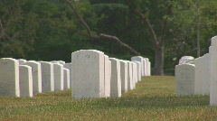Arlington Cemetery - long pan to right Stock Footage