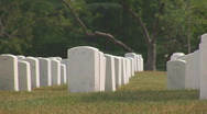 Stock Video Footage of Arlington Cemetery - long pan to right