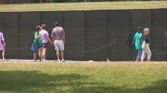 Vietnam Veterans Memorial Stock Footage