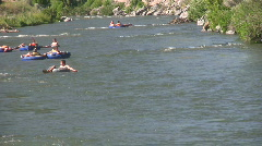 Provo River Utah raft and tube HD Stock Footage