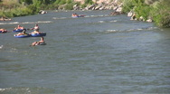 Stock Video Footage of Provo River Utah raft and tube HD