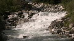 Small river in alpine valley Stock Footage