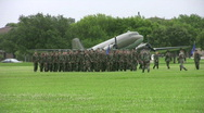 USAF Airmen March parade field HD Stock Footage