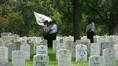 Veterans Cemetery Honor Guard HD Stock Footage