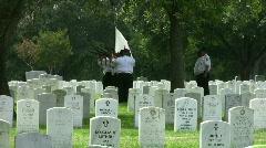 Veterans Burial Honor Guard Shoot HD Stock Footage