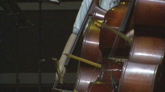 3 Cellist Bow on Cello with Quick to Slow Movements  - stock footage