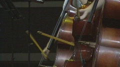 3 Cellist Bow on Cello with Quick Movements  Stock Footage
