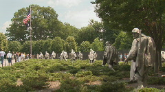 Korean War Veterans Memorial - stock footage