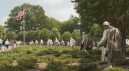 Stock Video Footage of Korean War Veterans Memorial
