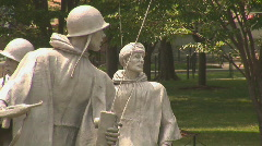 Korean War Veterans Memorial Stock Footage