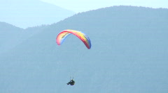 Paraglider in the mountains Stock Footage