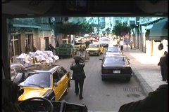 Police moving traffic in Alexandria Egypt Stock Footage