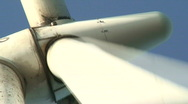 Wind power electric station at sunrise 11 Stock Footage