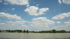 Rhine weather time lapse - stock footage