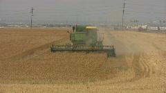 Combine wheat field turn HD - stock footage