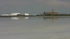 Salt factory Great Salt lake HD Stock Footage