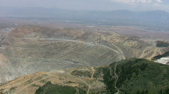 Kennecott Mine East side Zoom In Stock Footage