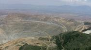 Kennecott Mine East side Zoom In Stock Footage